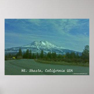 """Mt. Shasta, California USA""  poster"