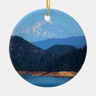 Mt Shasta Christmas Ornament