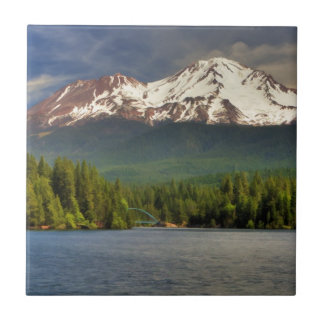 MT SHASTA FROM LAKE SISKIYOU SMALL SQUARE TILE