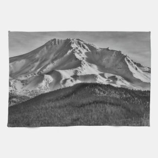 MT SHASTA IN BLACK AND WHITE KITCHEN TOWELS