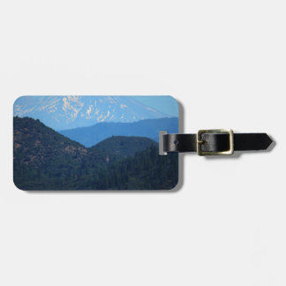Mt Shasta Luggage Tag