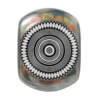 Mt Shasta Mandala, Tea/Herb Jar/Tin Glass Candy Jars