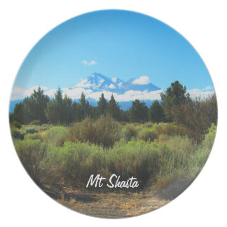 Mt Shasta Party Plate