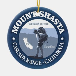Mt Shasta (rd) Round Ceramic Decoration