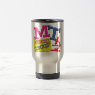 MT WHIMSICAL FUN ACRONYM LETTERS LABORATORY STAINLESS STEEL TRAVEL MUG