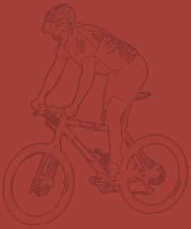 MTB Mountain Biking Solo Silhouette, White design Tshirt