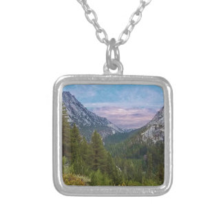 MtWhitneyTrailView#2 Necklace- by Fern Savannah Silver Plated Necklace