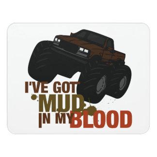Mud in my Blood Door Sign