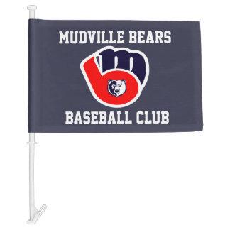 Mudville Bears Baseball Club Car Flags Car Flag