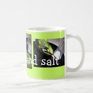 Mug, Avacado and salt Basic White Mug