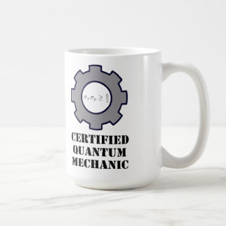 mug, certified quantum mechanic, harmonic osc. coffee mug