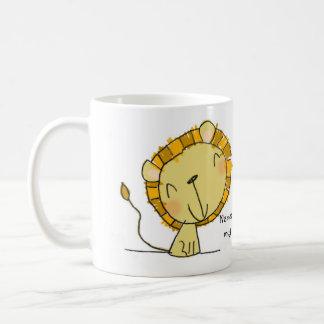 ♥ MUG ♥ Cute lion illustration