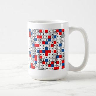 Mug in RW&B with President's Day Theme