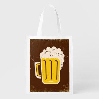 Mug Of Beer Reusable Grocery Bag