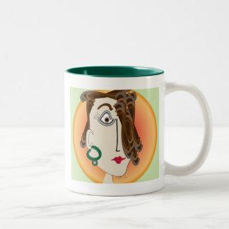 Mug Sabrina   cartoon     green