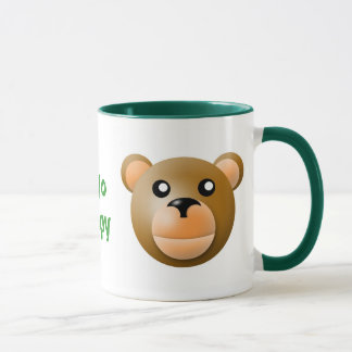 mug with animal cartoon style: bear