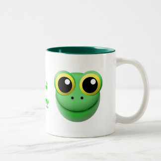 mug with animal cartoon style: frog