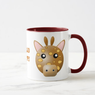 mug with animal cartoon style: giraffe