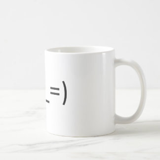 """Mug with Eastern emoticon for """"tired """""""