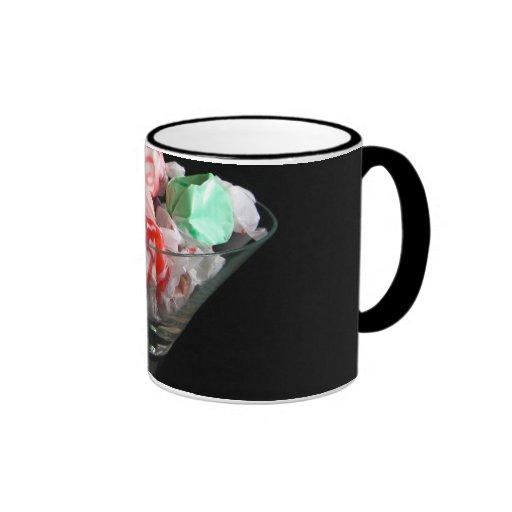 Mug with salt water taffy