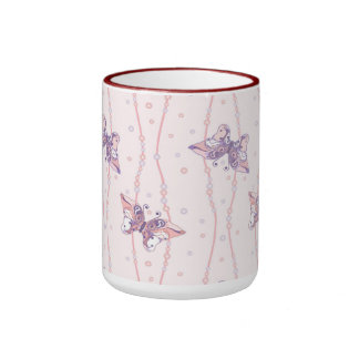 Mug with tender butterfly background