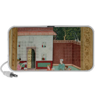 Mughal Emperor Feasting in a Courtyard Notebook Speakers