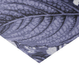 Mulberry Blue Purple Vintage Floral Toile No.1 Tissue Paper