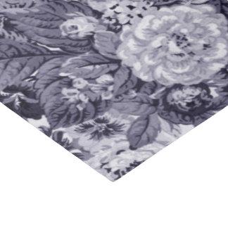 Mulberry Blue Purple Vintage Floral Toile No.3 Tissue Paper