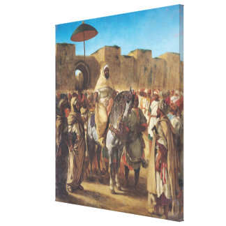 Muley Abd-ar-Rhaman , The Sultan of Morocco Canvas Print