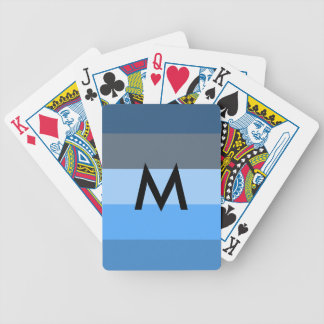 Multi-Blue Bicycle Playing Cards