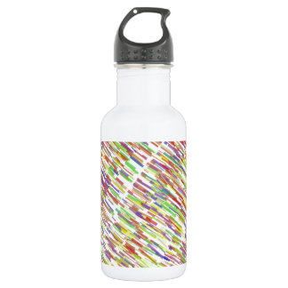 Multi-Color Abstract Lines Pattern 532 Ml Water Bottle
