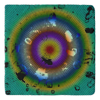 Multi-Color Circled Pattern Trivet