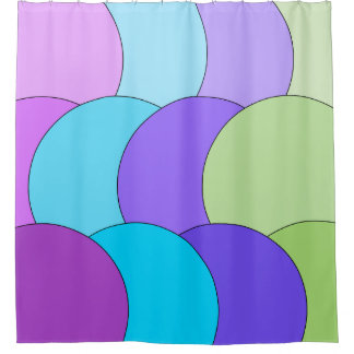 Multi-Color Circles Shower Curtain