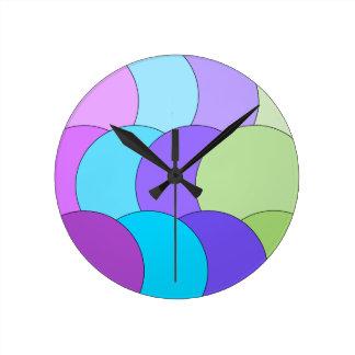 Multi-color fun circle wave round clock