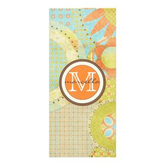 Multi Color Geometric Shapes Bright Monogram Full Color Rack Card