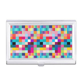 Multi Colored Business Card Case