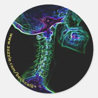 Multi-colored C-spine sticker
