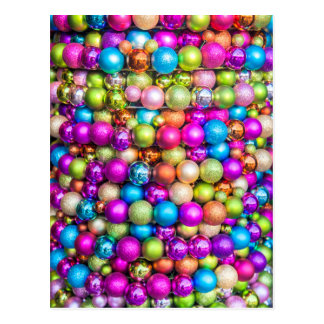 Multi-colored Glass ball decorations Postcard
