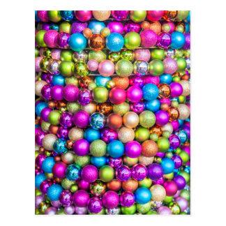 Multi-colored Glass ball decorations Postcard