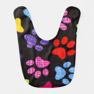 Multi-Colored Paws Bib