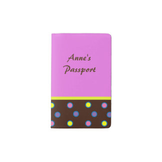 Multi colored polka dots pocket moleskine notebook