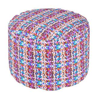 Multi-colored sparkling lights pattern pouf