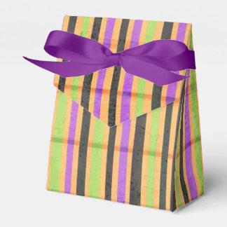 Multi colored Stripe pattern tent favor box