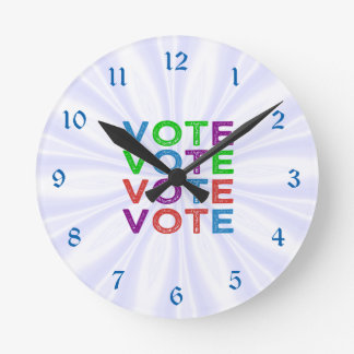 Multi-colored VOTE Round Clock