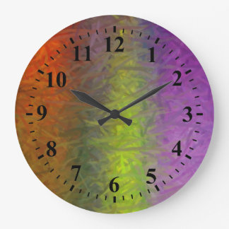 Multi Colors Abstract Art Painting 3 Large Clock