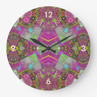 Multi Colors Abstract Large Clock