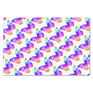 Multi coloured butterfly tissue paper