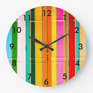 Multi-coloured Large Clock