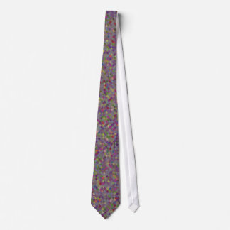 Multi Coloured Tiled Pattern Tie