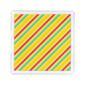 Multi Diagonal Stripe Yellow Design